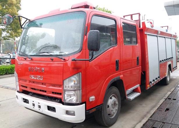 五十铃泡沫消防车(4-5T)|庆铃中型消防车